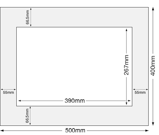 Measurements for A3 PAGB Camera Club Competition Card Mounts